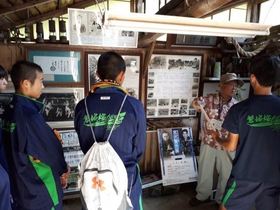 炭鉱町「常磐」の歴史を学ぶ高校生たち